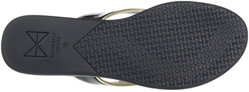 Gold 327 Donna Punta Ballerine Nero Black Butterfly Aperta Bondi Twists OzvqxP8