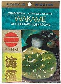 San-J, Wakame W/Shitake Mush, 18 x 0.56 Z (Pack of 2)