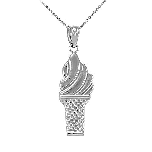 polished-925-sterling-silver-ice-cream-cone-charm-pendant-necklace-16