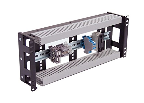 IRP1043D Rackmount 4U Low Profile Din Rail Panel 3.78 inch Depth for Industrial Standard 19 inch 2 Post or 4 Post Rack Cabinet.