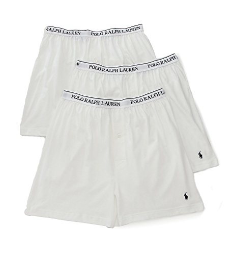 Polo Ralph Lauren Men's 3-Pack Knit Boxer White Small