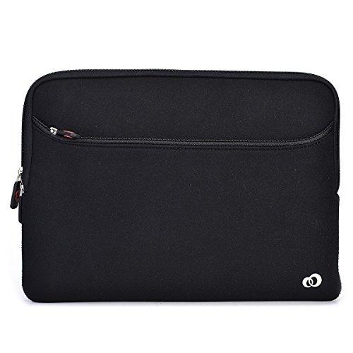 black slim fit laptop sleeve
