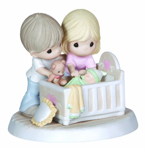 Precious Moments,  We're Glad You Came Into Our Lives, Bisque Porcelain Figurine, Family, (Family Porcelain Figurine)
