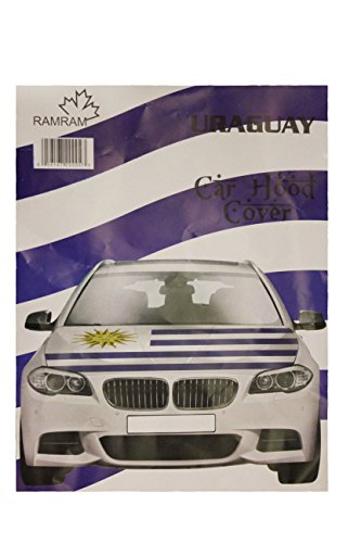 URUGUAY Country Flag CAR HOOD COVER New by Unknown