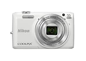 Nikon COOLPIX S6800 16 MP Wi-Fi CMOS Digital Camera with 12x Zoom NIKKOR Lens and 1080p HD Video (White) (Discontinued by Manufacturer)