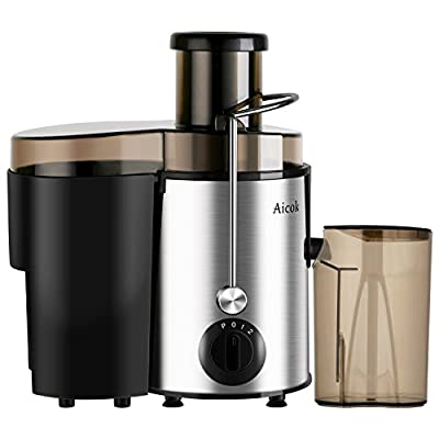 Aicok Juice Extractor, Juicer Centrifugal Fruit Machine with Juice Jug and Cleaning Brush, Stainless Steel