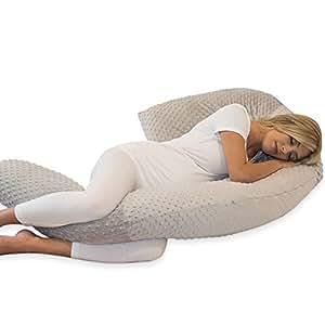 Amazon.com: Embarazo almohada gris Minky almohada de cuerpo ...