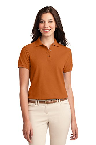Texas Silk (Port Authority Women's Silk Touch Polo S Texas Orange)