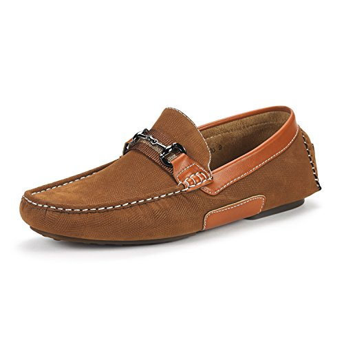 BRUNO MARC NEW YORK Men's Santoni-03 Tan Penny Loafers Moccasins Shoes Size 7 M US ()