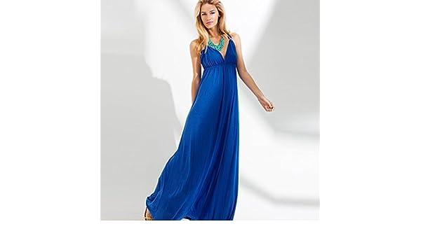 Elegantes tobillo-longitud con cuello en V vestidos de noche (Un tamaño, Negro): Amazon.es: Zapatos y complementos