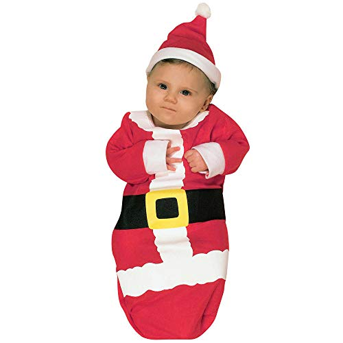 BOLUOYI Newborn Baby Girl Clothes Infant Boys Girls Pajamas Christmas Xmas Swaddle Sleeping Bag+Hat Red 80
