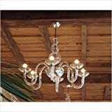 Danieli Chandelier Finish: Matte gold / Red, Number of Lights: 12x60 E12