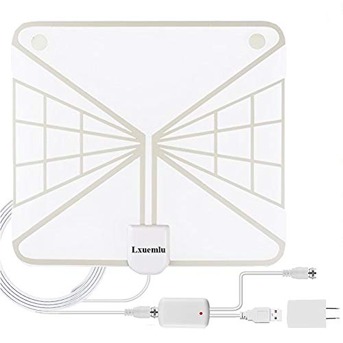 HDTV Antenna Indoor Digital TV Antenna, 60 Miles Range HD Antenna with Detachable Amplifier Signal Booster and 13FT Coaxial Cable - Updated 2018 Version by Lxuemlu