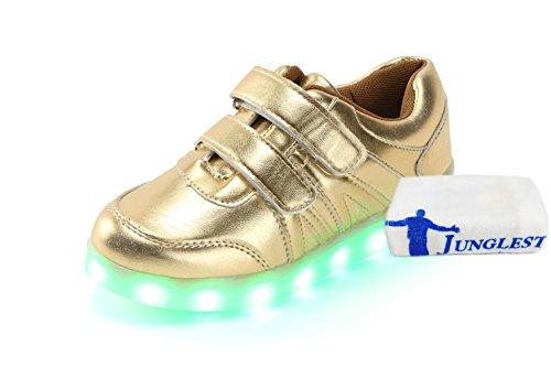 [Present:kleines Handtuch]JUNGLEST 7 Farben LED Kinder, Jungen, Mädchen führte leuchten Trainer Sneakers Turnschuhe Sportschuh c7