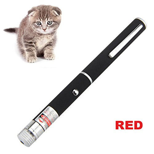 Memory Interactive (Unfade Memory Pet LED Pointer Pen, Cat Catch the Beam Light Interactive Exercise Toy Pet Cat Training Tool - Red)