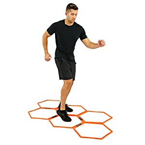 EFITMENT Hexagonal Hex Speed Rings, Agility Rings, Training Rings, Workout Rings for Fitness & Foot Work A009