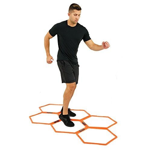 Hexagonal Hex Speed Rings, Agility Rings, Training Rings, Workout Rings for Fitness by EFITMENT A009