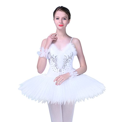 KAI-ROAD Women Professional Ballet Tutu Costume Hard organdy Platter 8 Layer Skirt (Large)