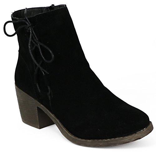 Chatties Womens Microsuede Heel Boot Black 6XZvoVSj1C