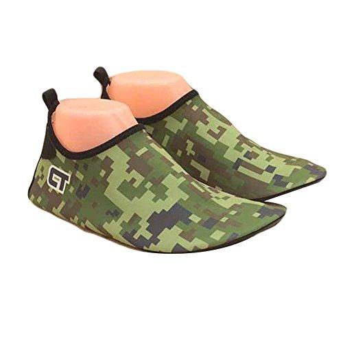 verte Chaussures Chaussures de d'été de armée Chaussures Sandales d'eau Bain Plage de Chaussures Yoga Femmes qaz6Enw