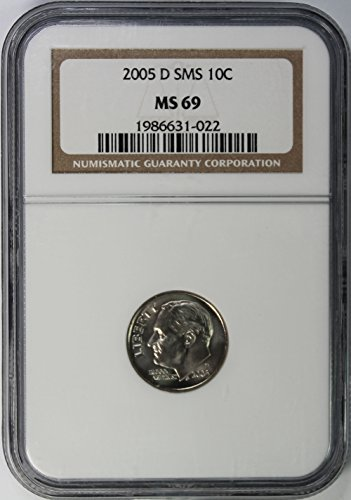 2005 D SMS Roosevelt Dime 10c MS69 NGC