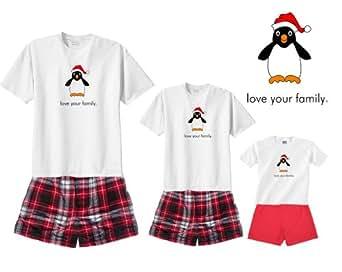 South Pole Penguin White Shirt Boxer Set - Adult Small, S/S, CRB Plaid Shorts