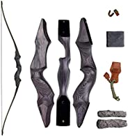 """SinoArt 60"""" Takedown Longbow Archery Wooden Archery Bow Included Fur Rest Pad Stringer Tool Tab String No"""