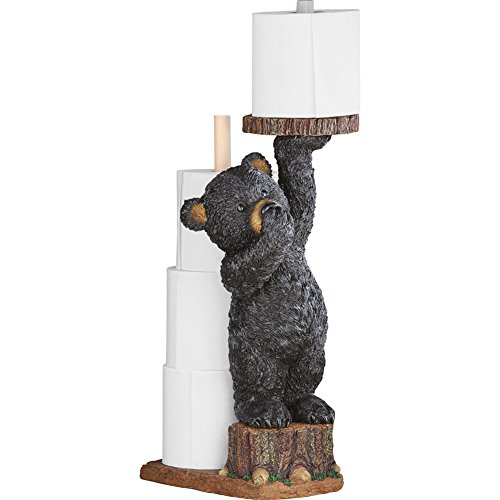 Collections Etc Northwoods Bear Cub Toilet Paper Holder, 22
