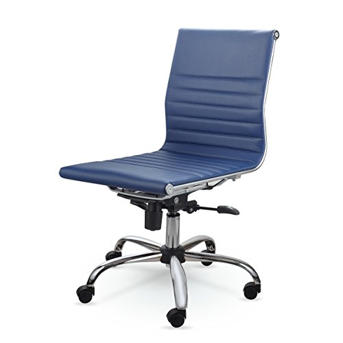 Winport Furniture MID-BACK LEATHER CONFERENCE OFFICE CHAIR MZN6912 (Blue) by Winport Furniture
