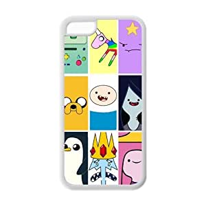 Apple iPhone 5C Designed Adventure Time Collage Beemo Toon Best Durable Cover Case Protector Gift Idea