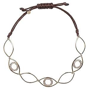 365Love Women's 18K Gold Diamond Bracelet, 2.97 g