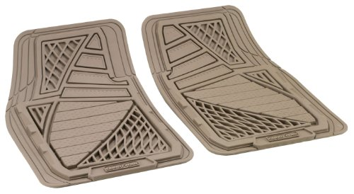 Goodyear 77099 77099 Heavy Duty Luxury Universal Rubber Car Mat Front Set - 2 Pieces, Brown, Brown