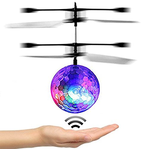 RC Flying Ball, Etpark Crystal Flashing LED Light Flying ball RC Toy RC infrared Induction Helicopter for Kids, Teenagers Colorful Flyings for Kid's Toy