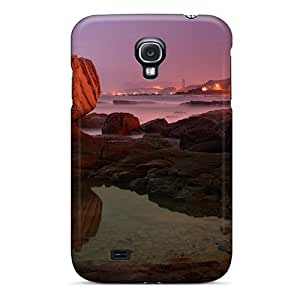linJUN FENGHigh Quality Shock Absorbing Case For Galaxy S4-shore Road By A Misty Sea