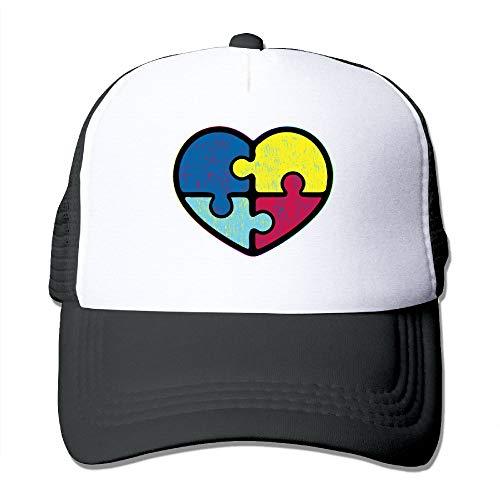Mesh Baseball Caps Vintage Autism Awareness Trucker Hats Grid Adult Adjustable Sunshade Hat ()