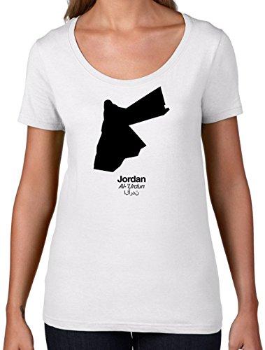Womens Scoop Neck T-Shirt - White Medium (Jordan Silhouette)