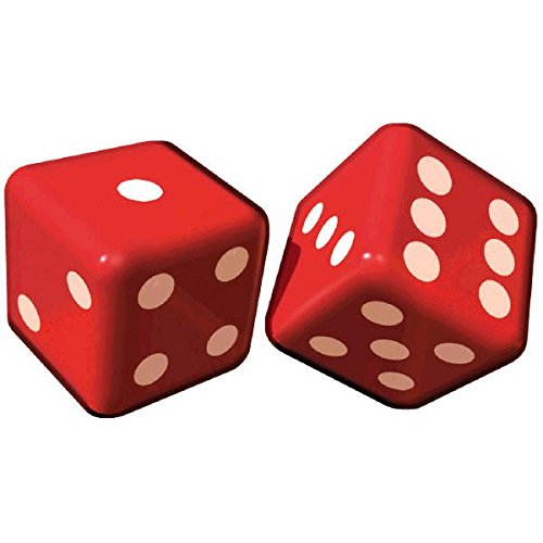 Amscan Inflatable Dice Casino Party Decoration, Plastic, 12'', Pack of 2 Decoration by Amscan