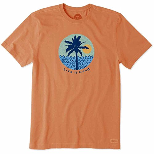 Life is Good Lig Is Good. Mens Crusher Tee Beach Patterns - Sandy Orange, 2XL