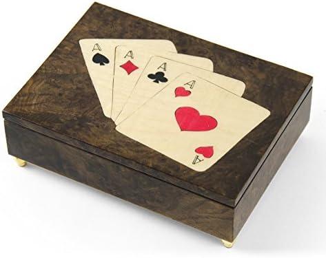 Hecho a mano italiano Poker tema incrustaciones de 4 de un tipo ...