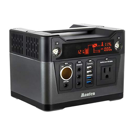 300W Portable Battery, Rechargeable Inverter Vehicles, Tension Multifunctional Outdoor Power Transformer, 5V/12V/24V, 1A/2.1 A/3A/4A/8A Converter Outlets USB ()