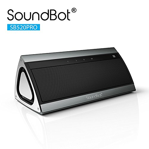 SoundBot SB521 HD 3D Bluetooth 4.0 Wireless Speaker for 15Hrs Music Streaming & Hands-Free Calling w/ Passive sub woofers,5W + 5W 50mm Driver Speakerphone, Built-in Mic, 3.5mm Audio Port, Battery