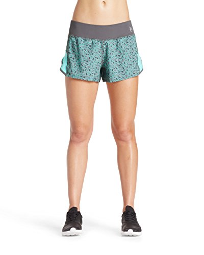 Mission Womens VaporActive Momentum Running 3 Shorts, Iron Gate/Pool Blue Ice, Small