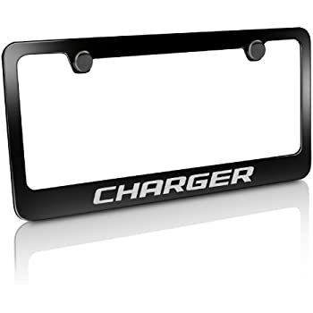Amazon Com Dodge Charger Black Metal License Frame