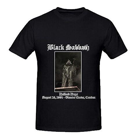 Black Sabbath 2004 08 26 Camden Nj Usa Tour Soundtrack Men Crew Neck Cool Shirt Black