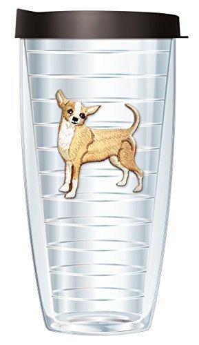 Emblem Mug - Chihuahua Emblem Super Traveler 22 Oz Tumbler Mug with Lid