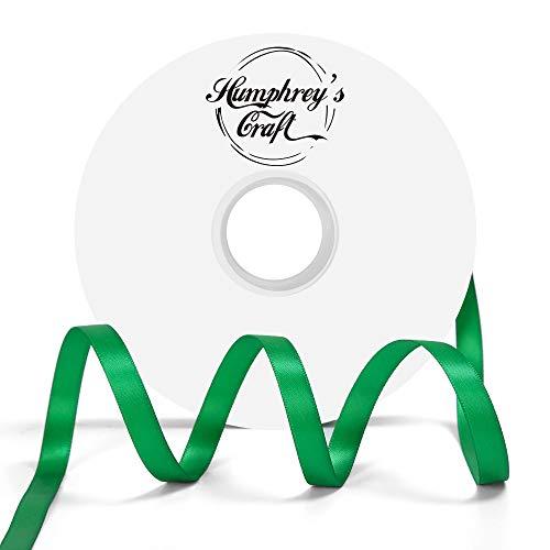 - Humphrey's Craft 3/8-inch Double Face Solid Satin Ribbon 100% Polyester Ribbon Roll-50 Yard (Fern Green)