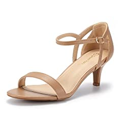 Give any dress an elegant look with these adorable high heels! Featuring PU leather upper with metallic leatherette upper, crossed strap design with adjustable buckle closure, open toe, platform, stiletto heel, and lightly padded insole.