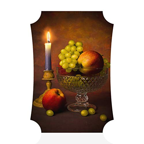 Sign Destination Aluminum Metal Wall Decor Grapes and Apples with Candle Vertical Photo Print Wall Art - Berlin Shape, 5