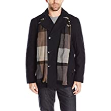 London Fog Wool Blend Double Breasted Pea Coat
