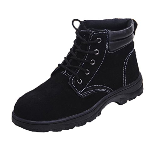 Cold Weather Leather Work Shoes, Non-Slip Anti-Puncture Impact-Reducing Safety Boots, Winter, Gardening, Construction, Welding, Outdoor Climbing, Heavy Duty, Protect (Women Steel Toe Boots)